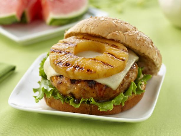 Teriyaki Pineapple Turkey Burgers