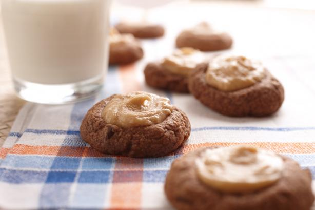 Chocolate and Peanut Butter Thumbprint Cookies