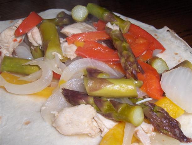 Asparagus Chicken Fajitas