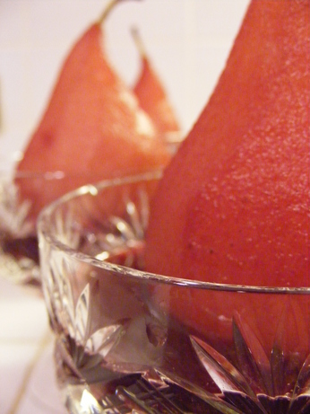 Wine-Poached Pears