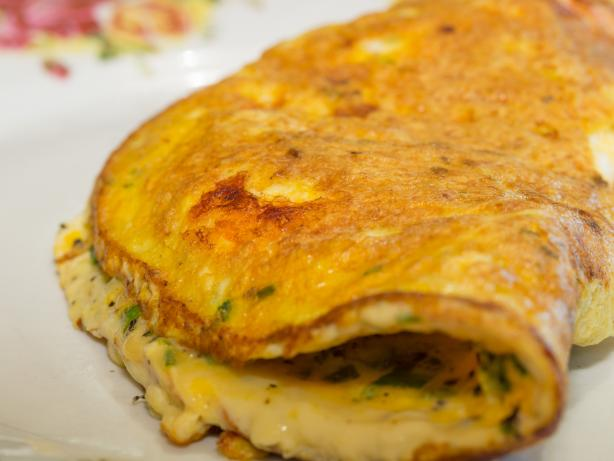 Prawn and Chive Omelette
