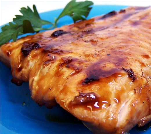 Maple-Chipotle Glazed Salmon