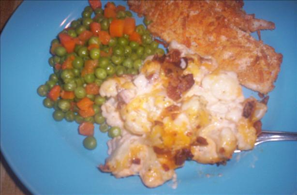 Creamy Cauliflower Casserole With Bacon and Cheddar