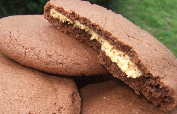 Peanut Butter-Filled Chocolate Cookies