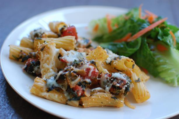 Chicken and Spinach Rigatoni Casserole