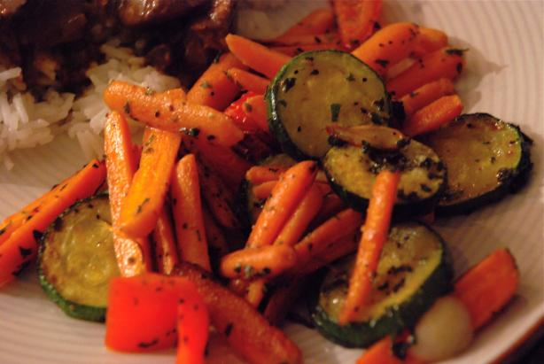 Zucchini and Carrots With Garlic and Herbs