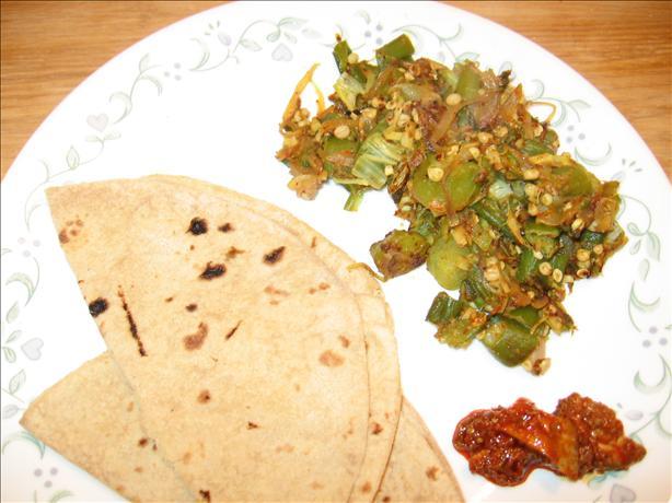 Bhindi Bhaji (Fried Stuffed Okra)