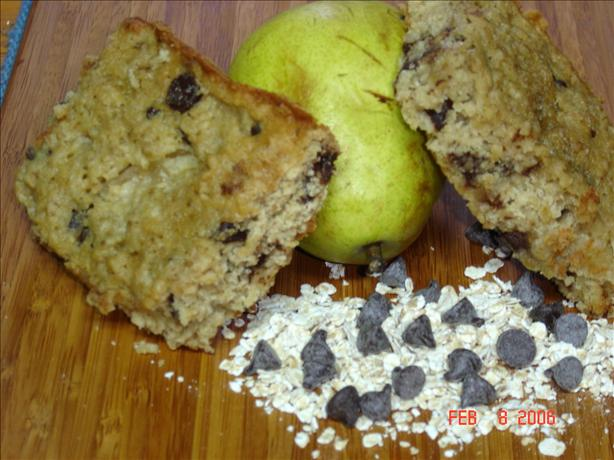 Chocolate Chip Pear Snack Bars