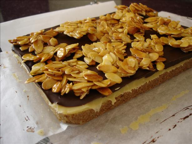 Caramel Almond Bars