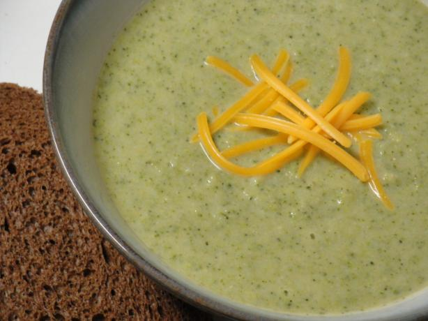 Healthy Broccoli, White Bean & Cheddar Soup
