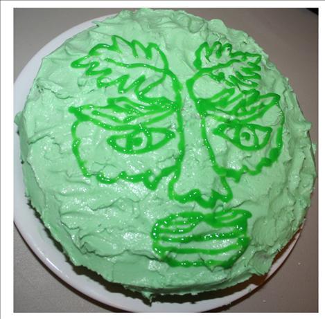 Green Man Cake