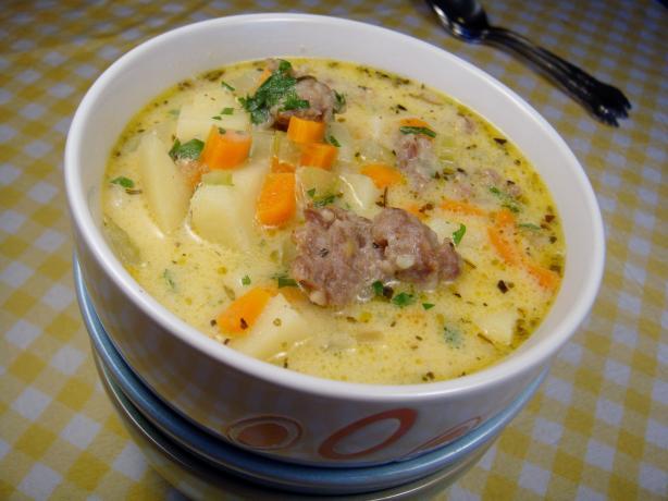 Cheesy Sausage & Potato Soup