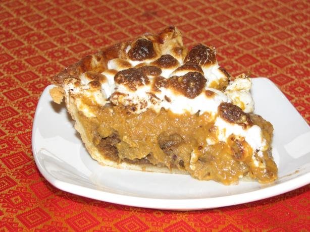 Pumpkin-Ginger Pie With Golden Marshmallow Topping