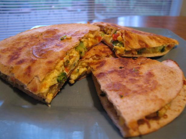Vegetarian Breakfast Quesadilla
