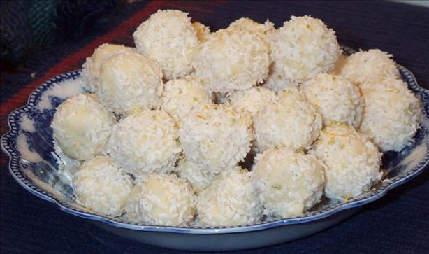 White Chocolate Coconut Citrus Truffles
