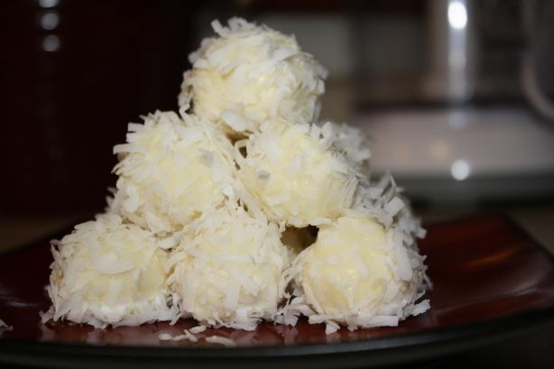White Chocolate Limoncello Truffles