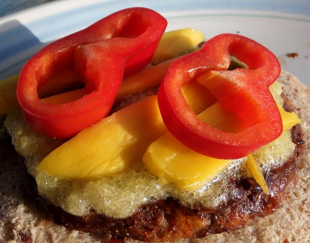 Caribbean Grilled Burger With Pineapple Sauce