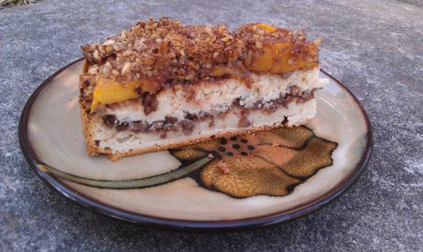 Peach-Sour Cream Coffee Cake