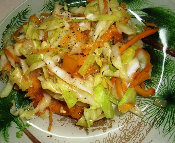Jamaican Steamed Cabbage and Carrot
