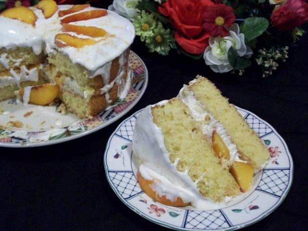Peaches 'n Cream Cake