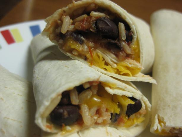 Rice and Beans Wraps