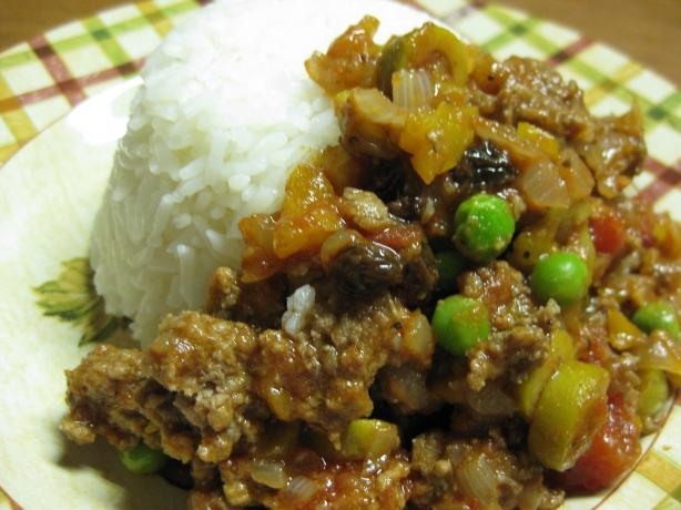Cuban Ground Beef Hash