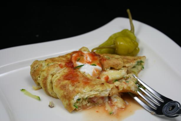 Spicy Zucchini Omelet