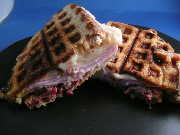 Waffle Iron Reuben Sandwich - Emeril Lagasse