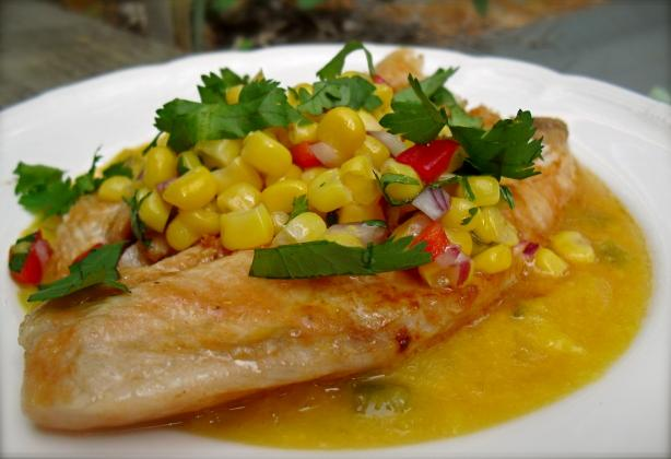 Chilean Fish With Honey-Mango Sauce