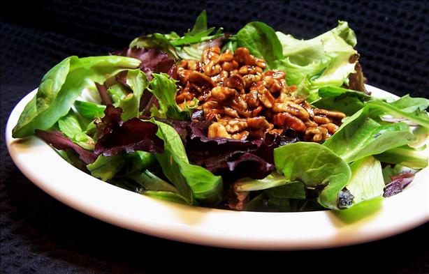 Southern Greens With Warm Pecan Dressing