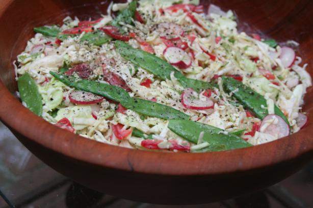 Five-Vegetable Slaw With Blue Cheese