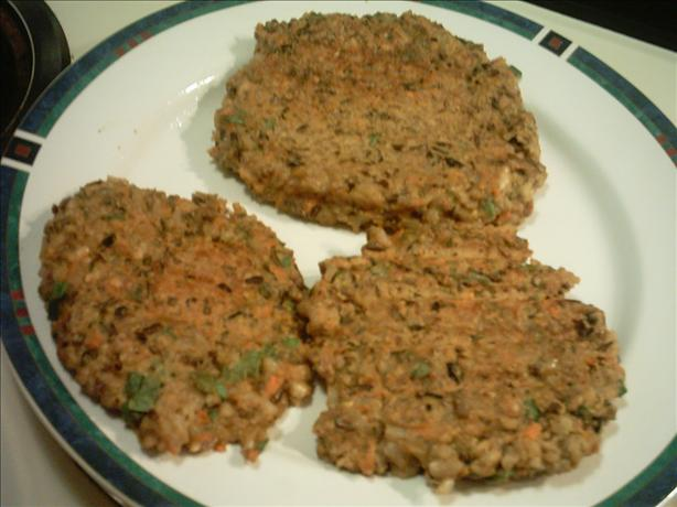 Curried Walnut Grain Burgers