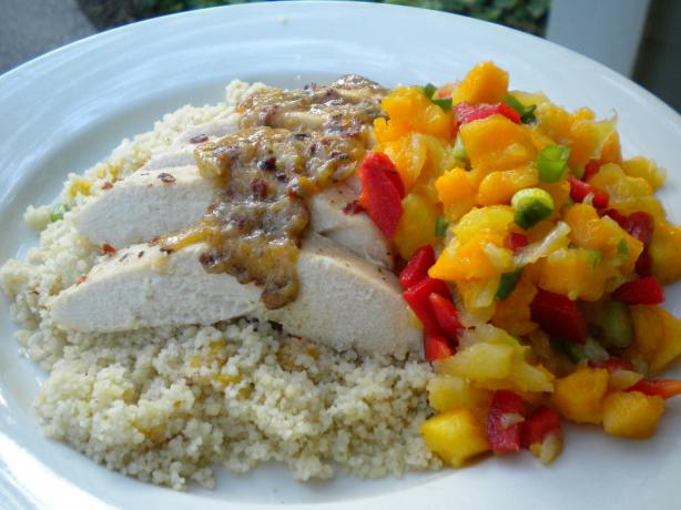 Tropical Chicken Couscous W/ Rum Vinaigrette