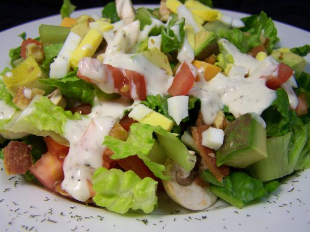 Bacon Lettuce Tomato (And More) Salad With Blue Cheese Dressing
