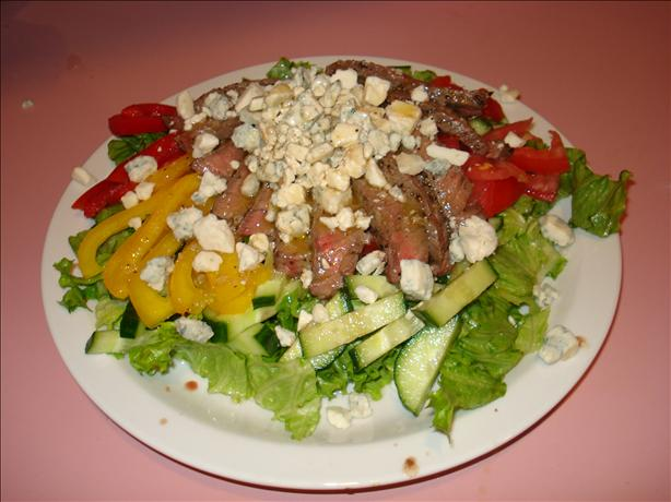 Grilled Steak Salad With Crumbly Bleu Salad Dressing