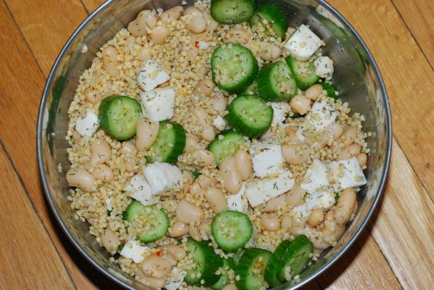 Cucumber Millet Bean Salad With Feta