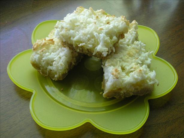 Luscious Lemon Coconut Meringue Squares