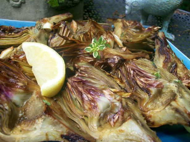 Sherry Pan Seared Artichokes