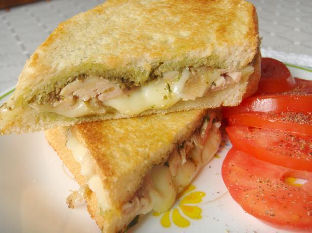 Pesto and Mozzarella Sandwiches