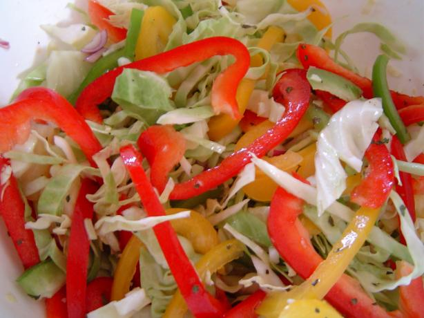 Tri-Color Bell Pepper, Pineapple Cole Slaw
