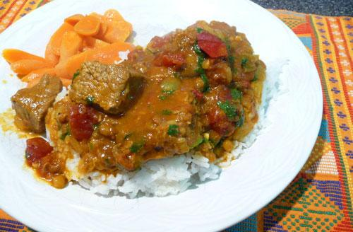 Indian Beef Madras Curry