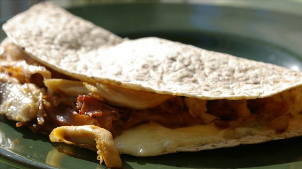 Smoked Gouda and Caramelized Onion Quesadillas