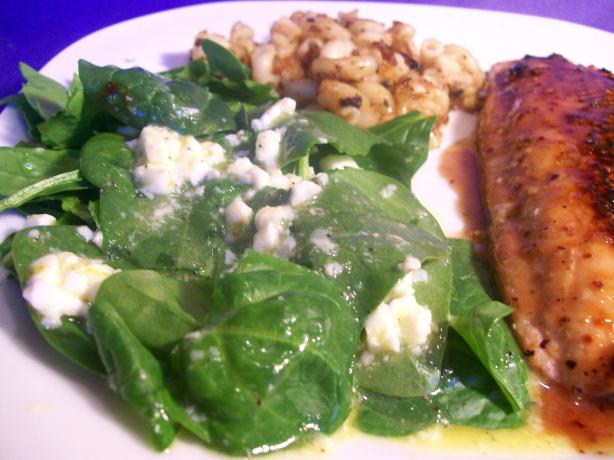 Spinach Salad With Egg Vinaigrette