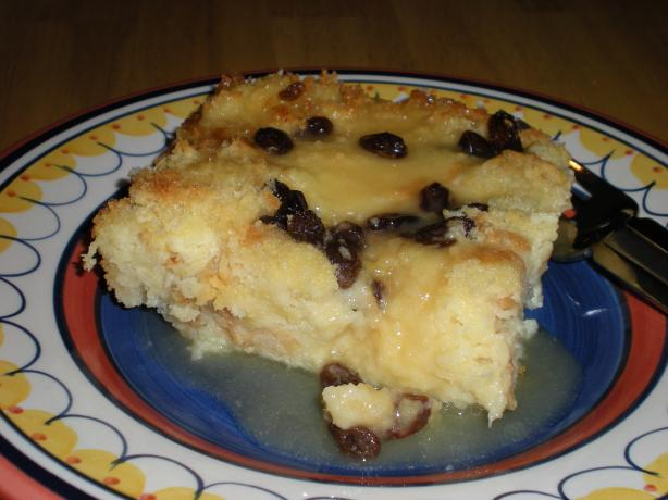 Mulate's Homemade Bread Pudding With Butter Rum Sauce