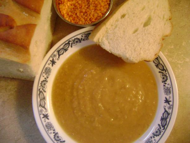 Rustic Red Lentil Soup (Only 4 Ingredients)