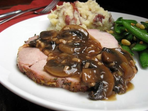 Seasoned Pork Roast With Mushroom Sauce