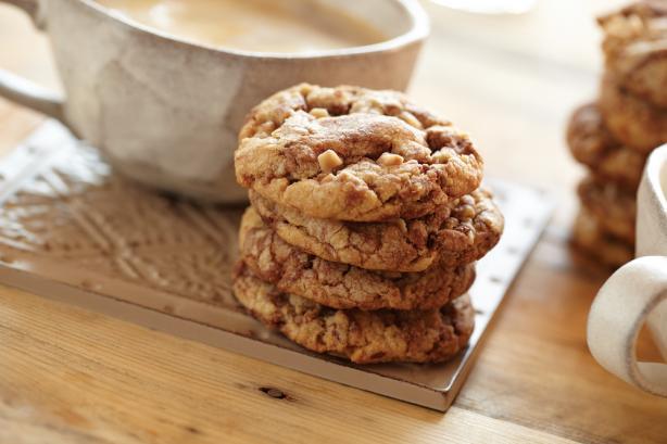 Mocha Swirl Peanut Butter Toffee Cookies