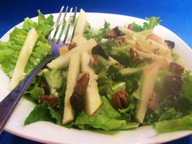Apple, Dried Cherry, and Pecan Salad With Maple Dressing