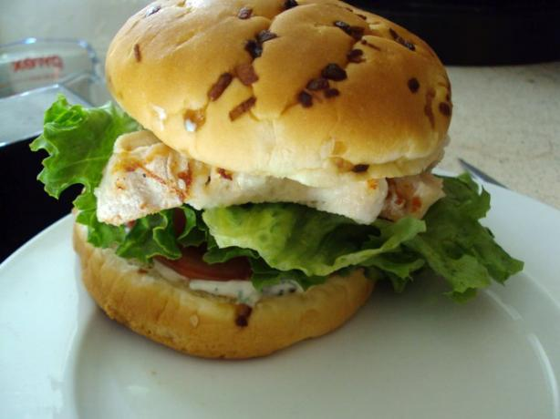 Chicken Sandwich With Lemon Basil Mayo