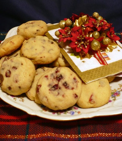 Cranberry Chocolate Shortbread